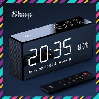 Loa bluetooth FM thẻ TF SD Remote điều khiền loa từ xa - AUX 3.5mm - hiển thị % pin - đồng hồ Led - model dido x9.. thumbnail