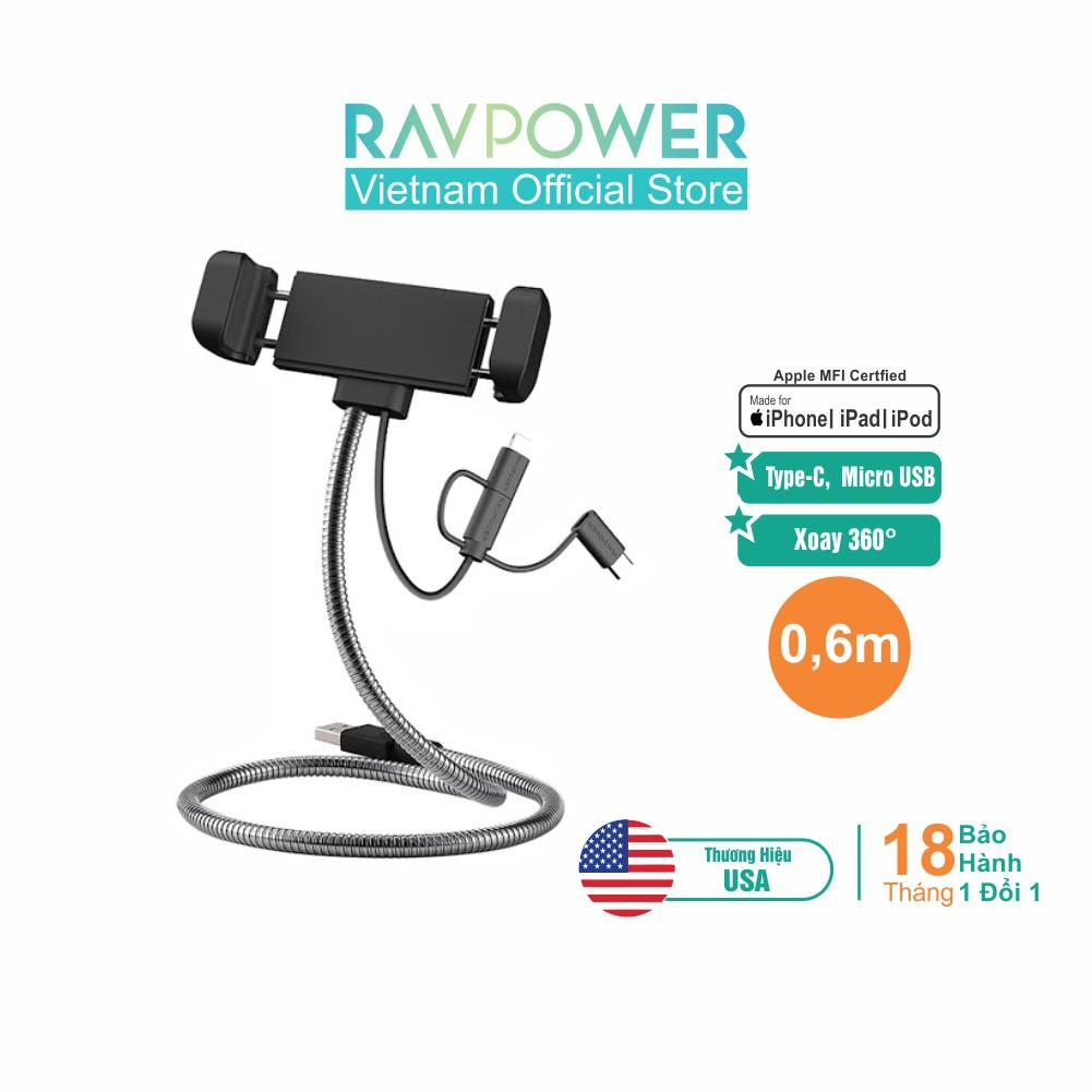 Cáp Sạc 3 Trong 1 (Lightning, Micro USB, Type-C) RAVPower - RP-