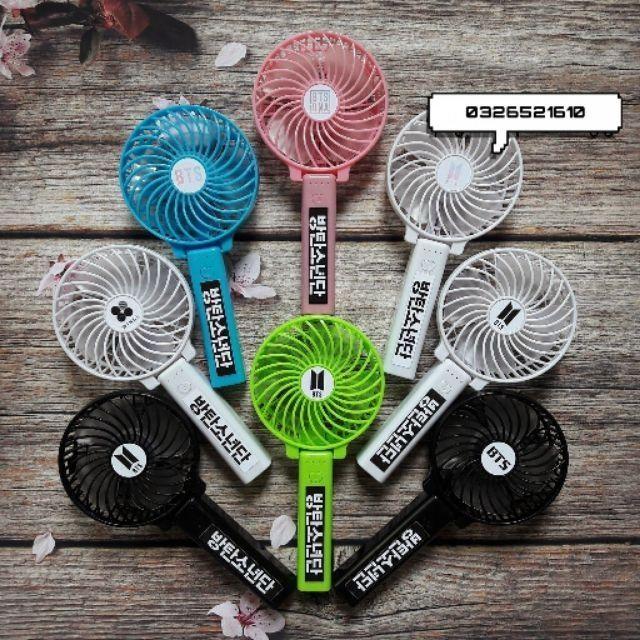Quạt mini cầm tay sticker Blackpink, Twice,  Redvelvet,  Exid, Tara, SNSD,  Mamamoo, Momoland