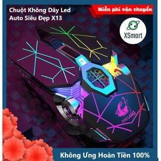 Chuột Không Dây Gaming Led Siêu Đẹp Free Wolf X13 Premium Pin Sạc Dùng Siêu Trâu Chuột Máy Tính Không Dây Đẹp thumbnail