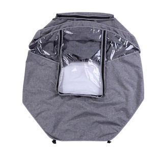 Baby Stroller Raincoat Cover Umbrella Rain Cover For Trolley Car Transparent Wind Dust Shield Open