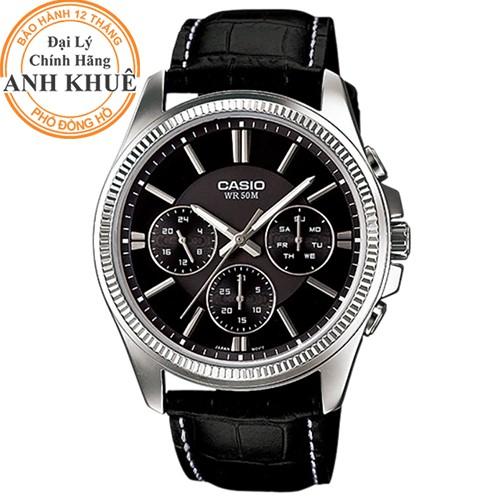 Đồng hồ nam dây da Casio Anh Khuê MTP-1375L-1AVDF