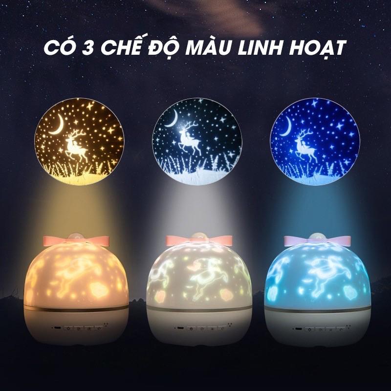 (Có loa bluetooth) Đèn ngủ chiếu sao, cổ tích, đại dương, sinh nhật xoay tự động đèn LED lãng mạn❤️FREESHIP🥳