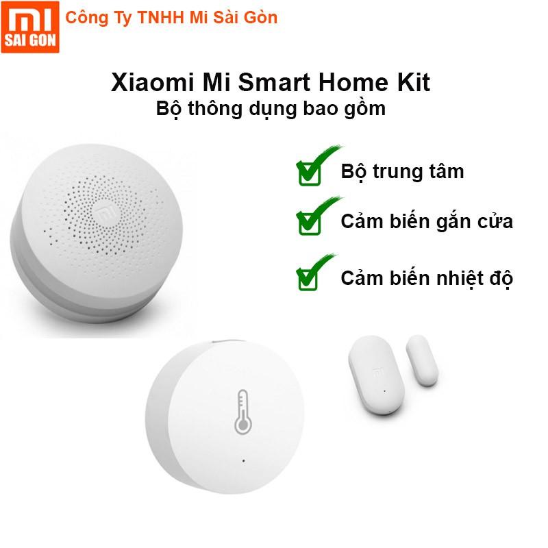 Bộ trung tâm cảm biến nhiệt và cảm biến gắn cửa Xiaomi Smart Home Kit