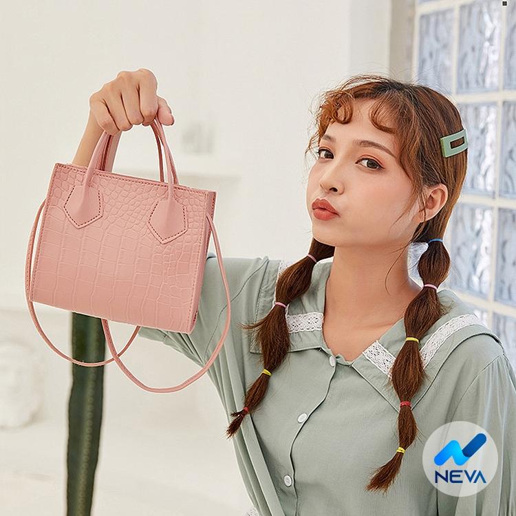 Túi nữ xách tay dập vân thời trang Hàn quốc siêu hot NEVA862