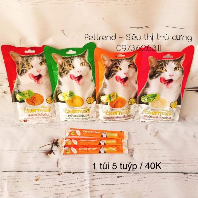 [FREE SHIP TỪ 99K] Snack dinh dưỡng cho mèo Cherman ( dạng kem ) - 3536881 , 959861780 , 322_959861780 , 40000 , FREE-SHIP-TU-99K-Snack-dinh-duong-cho-meo-Cherman-dang-kem--322_959861780 , shopee.vn , [FREE SHIP TỪ 99K] Snack dinh dưỡng cho mèo Cherman ( dạng kem )
