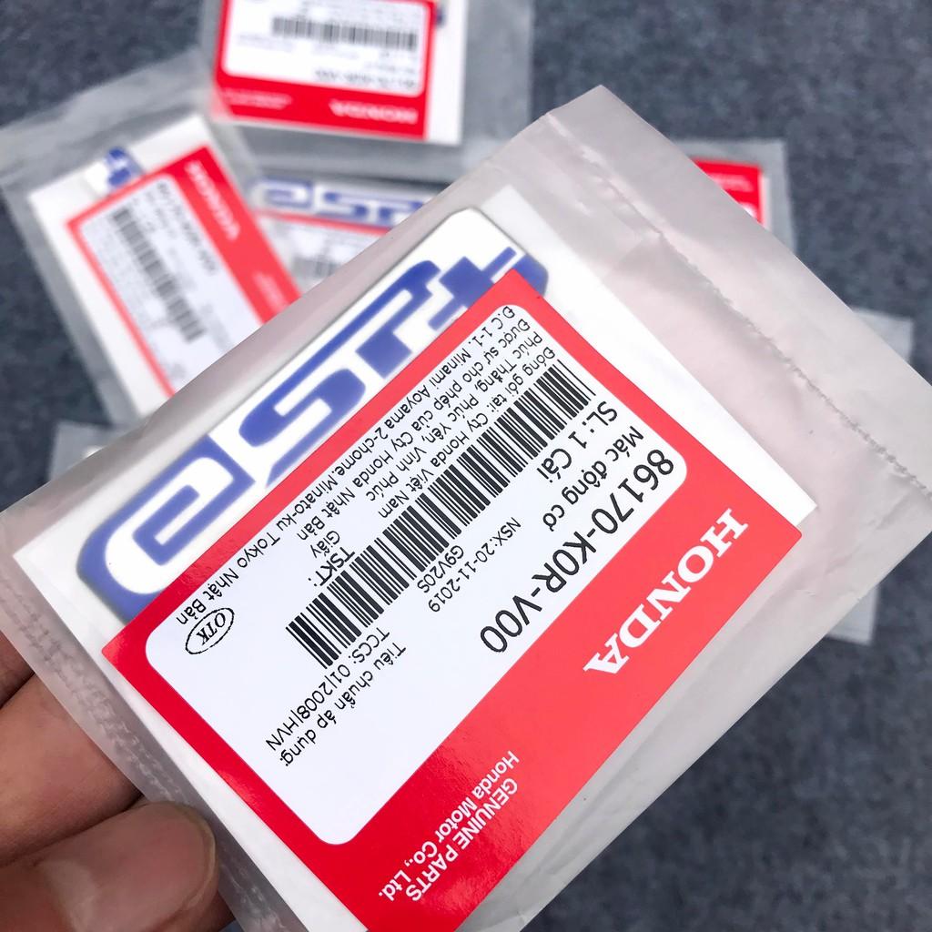 Decal tem nổi ESP+, ESP plus chính hãng Honda