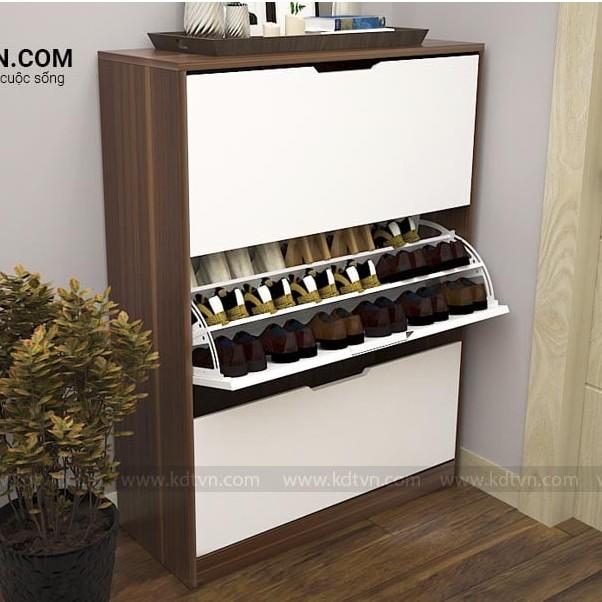 Tủ giày thông minh 3 tầng giá rẻ R80 - Nội thất đẹp cho gia đình