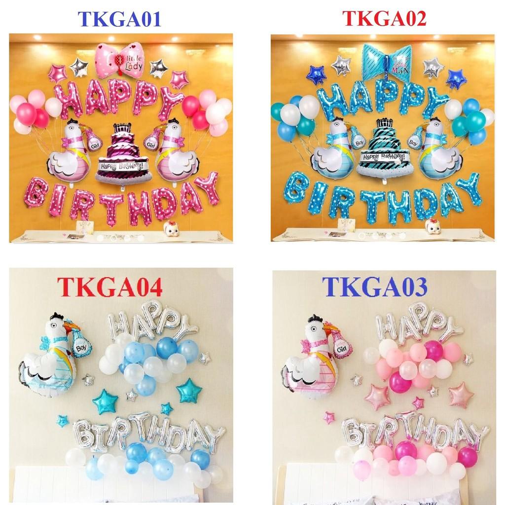 Bóng trang trí sinh nhật bé tuổi Gà , bóng sinh nhật bé tuổi Gà , TKGA03 - TKGA04