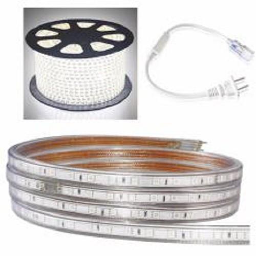 Cuộn đèn led dây 5050/220V dài 100m 1 màu (ánh sáng trắng) và 1 đầu nối dây nguồn