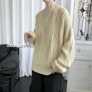 Áo Sweater Cổ Tròn Phong Cách Hàn Quốc Cho Cặp Đôi