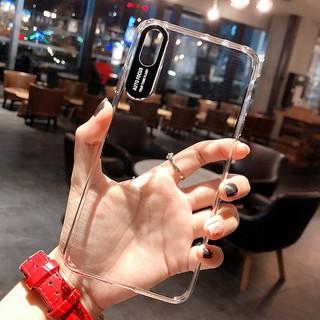Ốp Lưng Điện Thoại Bằng Tpu Trong Suốt In Chữ Cho Iphone X / Xr / Xs Max / 6 / 6s / 7 / 8 Plus