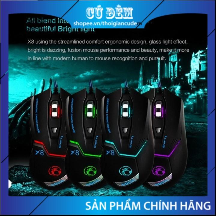 Chuột Chơi Game Cao Cấp IMICE X8, Chính Hãng, Led đổi Màu, Độ Nhạy 3200 DPI – Bảo Hành 12 Tháng