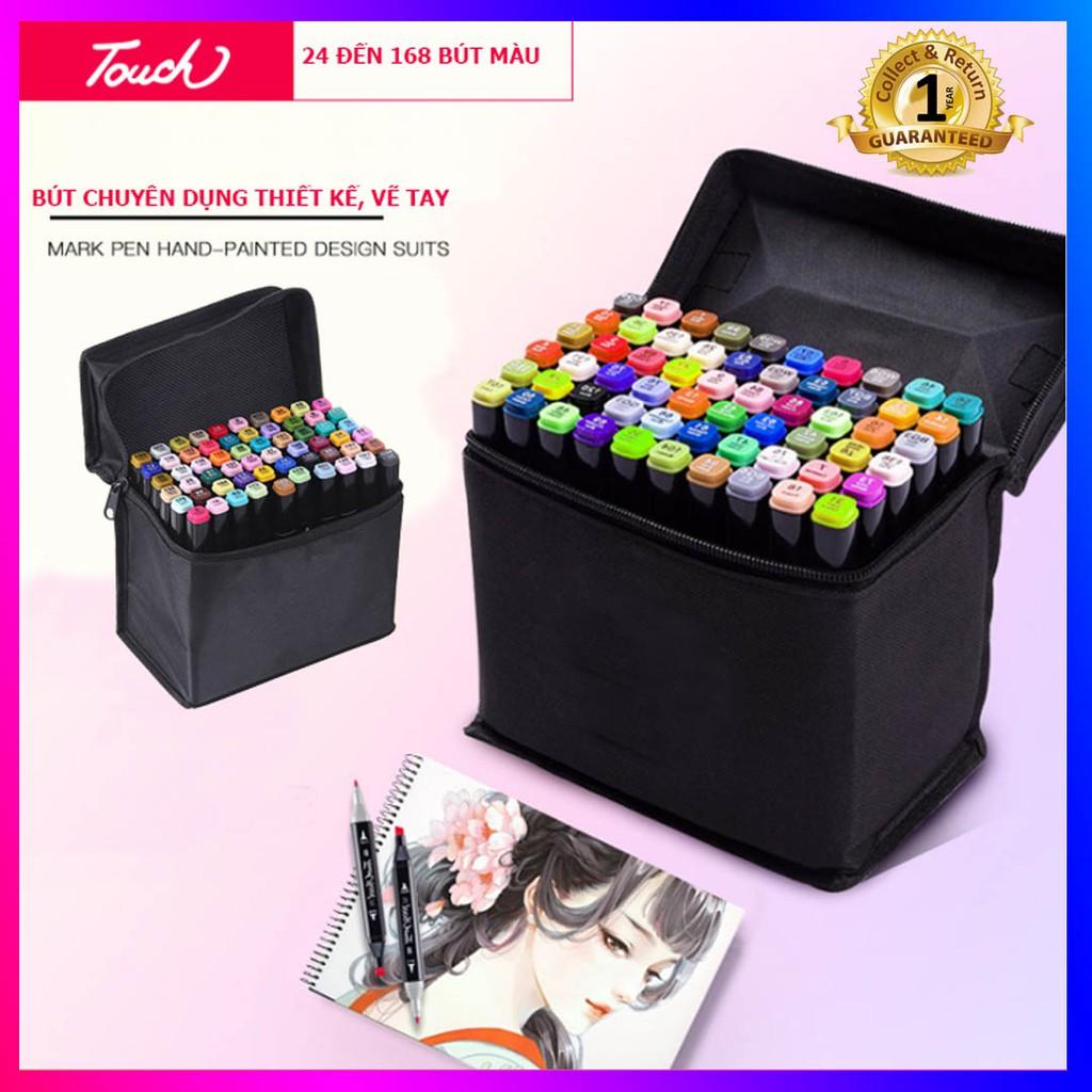 Bộ bút màu Touch 7, bút dạ màu anima cao cấp - Set 168 màu, 80 màu, 40 màu, 30 màu - Có kèm theo túi đựng