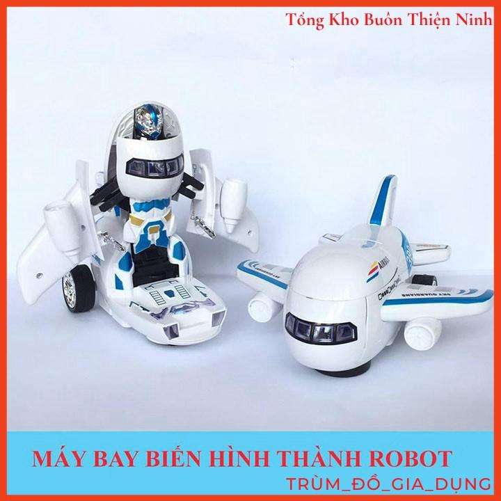 Đồ Chơi Máy Bay Biến Hình Thành Robot Phát Nhạc Vui Nhộn