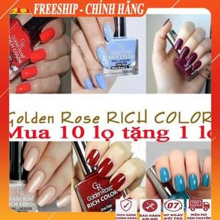 [FreeShip - Hàng Siêu Cao Cấp] Sơn móng tay đẹp Nước sơn móng siêu bóng mịn và nhanh khô golden rose rich thumbnail