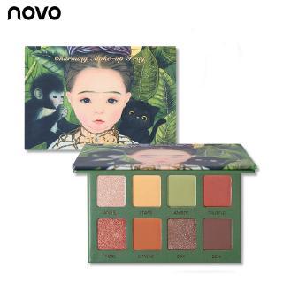 Bảng Phấn Mắt NOVO 8 Màu Lì Và Nhũ