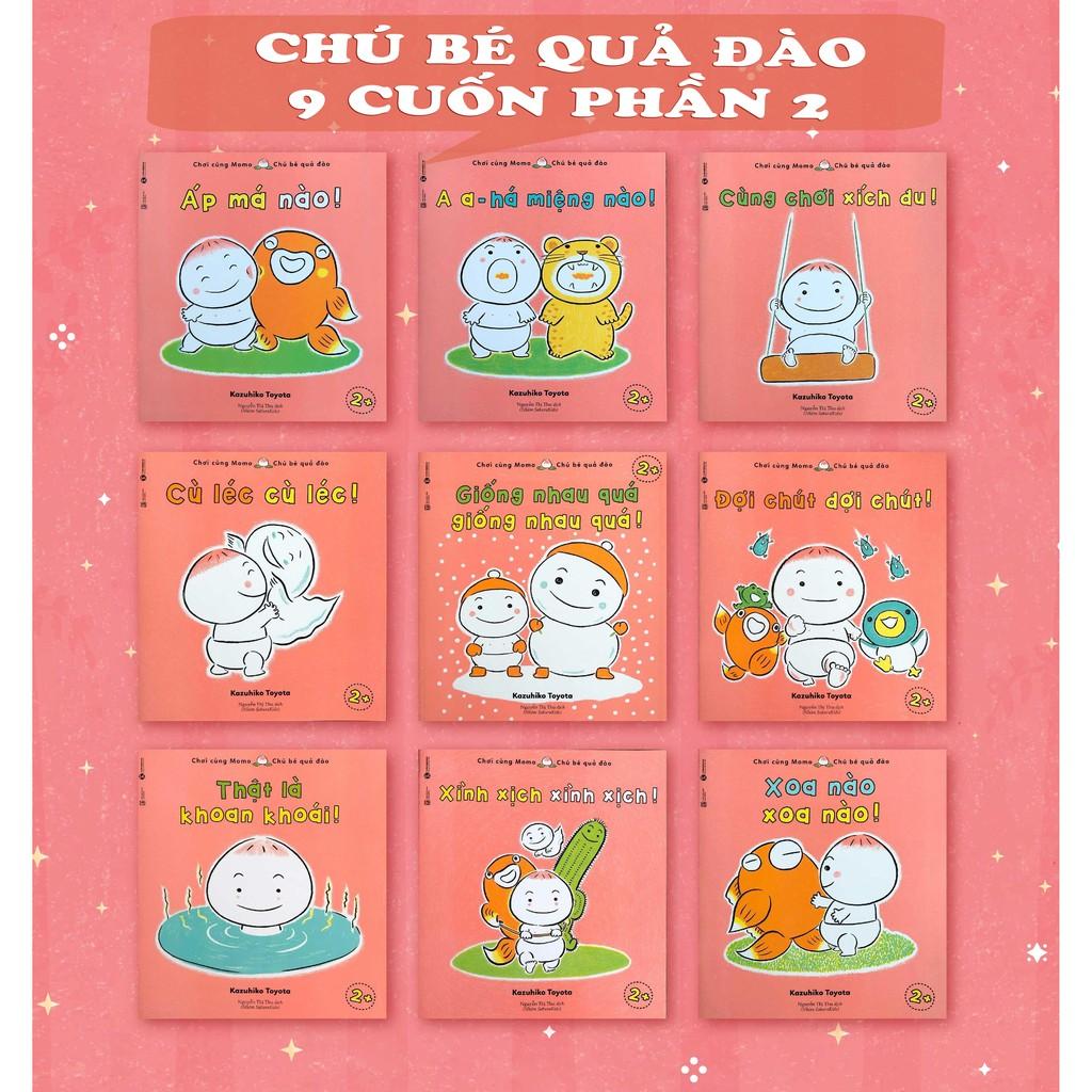 Sách - Trọn Bộ 19 cuốn Ehon Momo - Chú Bé Quả Đào [phần 1 và phần 2 - Tái Bản - Shop Bố Ken]