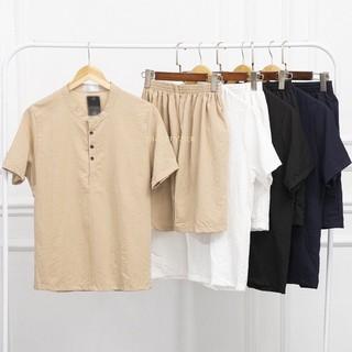 Áo Đũi [ Bộ Đồ nam ] tay ngắn cổ tàu, chất đũi chuẩn Thái, lịch lãm nhiều màu cho anh em lựa chọn BD4