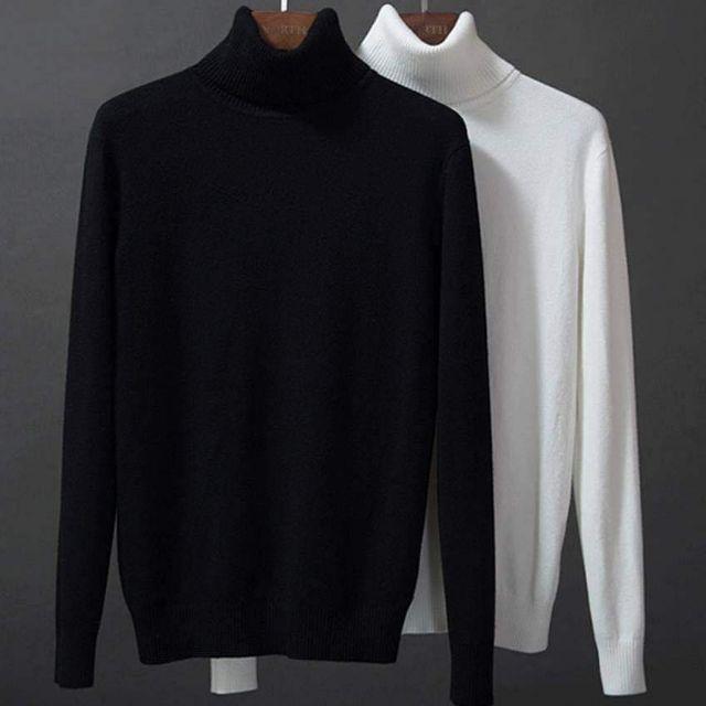 Combo 2 áo len nam cổ lọ đủ 9 màu từ 48-70kg - Áo len