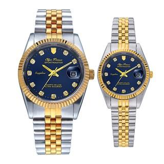 Đồng hồ đôi nam nữ dây kim loại Olym Pianus OP89322 MSK OP68322 LSK mặt xanh thumbnail