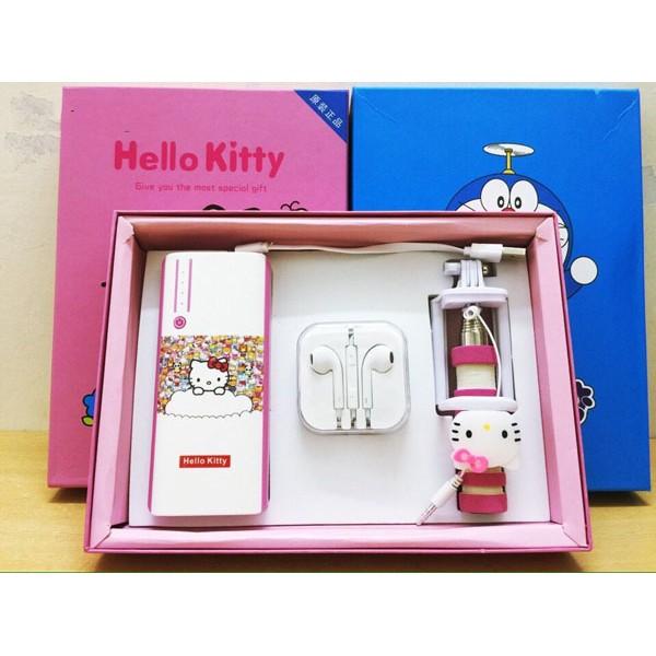 Combo sạc dự phòng Doremon – Hello kitty