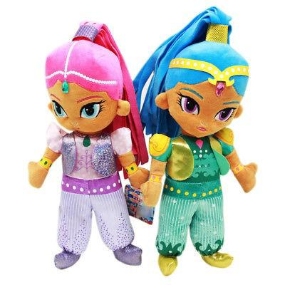 SHIMMER AND SHINE Pink & Blue Genies – 12″ Plush Stuffed Toy