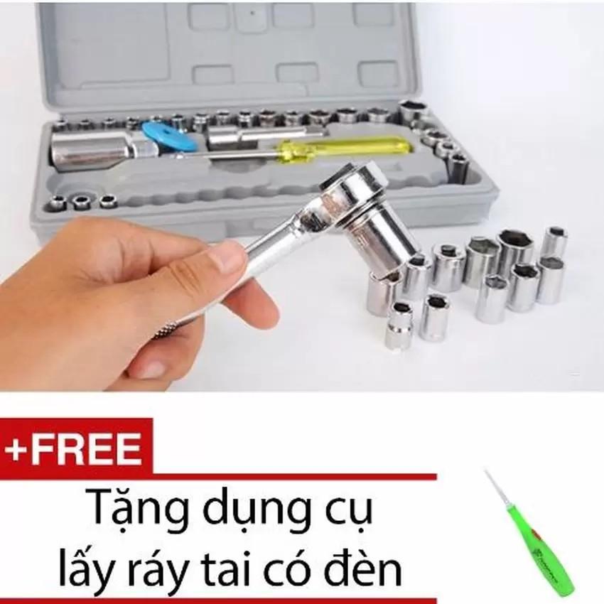Bộ khẩu mở siết ốc và bugi 40 chi tiết + Tặng lấy ráy tai VRG009082 + VRG007858 - 2874893 , 119569585 , 322_119569585 , 201000 , Bo-khau-mo-siet-oc-va-bugi-40-chi-tiet-Tang-lay-ray-tai-VRG009082-VRG007858-322_119569585 , shopee.vn , Bộ khẩu mở siết ốc và bugi 40 chi tiết + Tặng lấy ráy tai VRG009082 + VRG007858