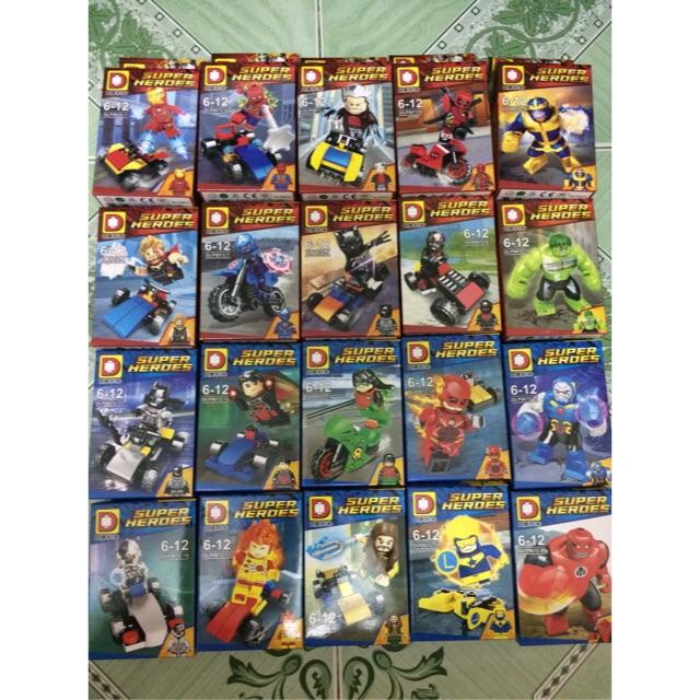 |Đồ Chơi Trẻ Em| Mẫu Xếp Hình Avengers Infinity War DLP9072(1-20)