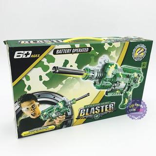 Hộp đồ chơi sung bắn đạ n mút xốp mềm tự động dùng pin Blaster