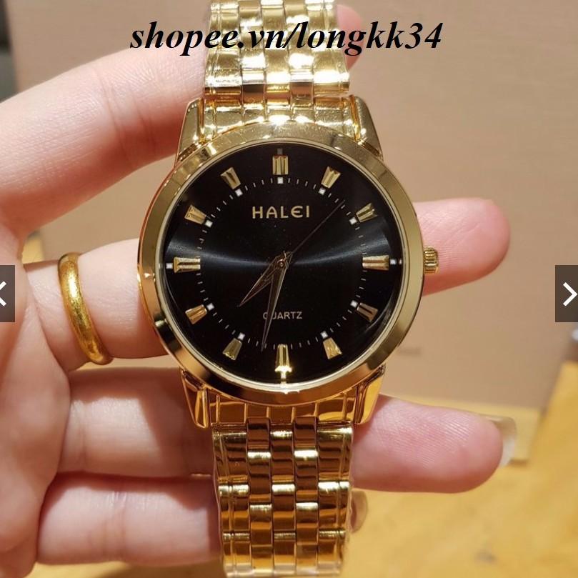 Đồng hồ nam HALEI chống nước tuyệt đối, mạ màu chống gỉ cao cấp rất sang trọng.