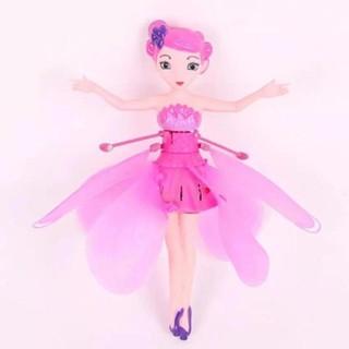 Đồ chơi cảm ứng tay Mẫu Búp bê bay Elsa xanh và Nàng Tiên bay màu hồng thumbnail