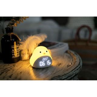 [Đồng hồ kiêm đèn ngủ] Đồng hồ báo thức đa chức năng Đèn ngủ chim thông minh Quà tặng đẹp