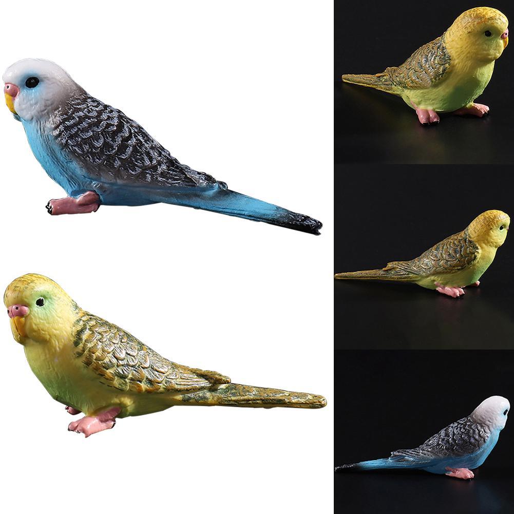 Kids Children Toy Simulation Mini Parrot Cute Bird Figurine Pet Model Home Decor