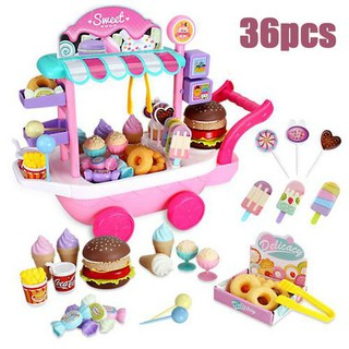 Mini Ice Cream Candy Trolley House Play Educational Toys Candy Car Ice Cream Truck Candy Trolley