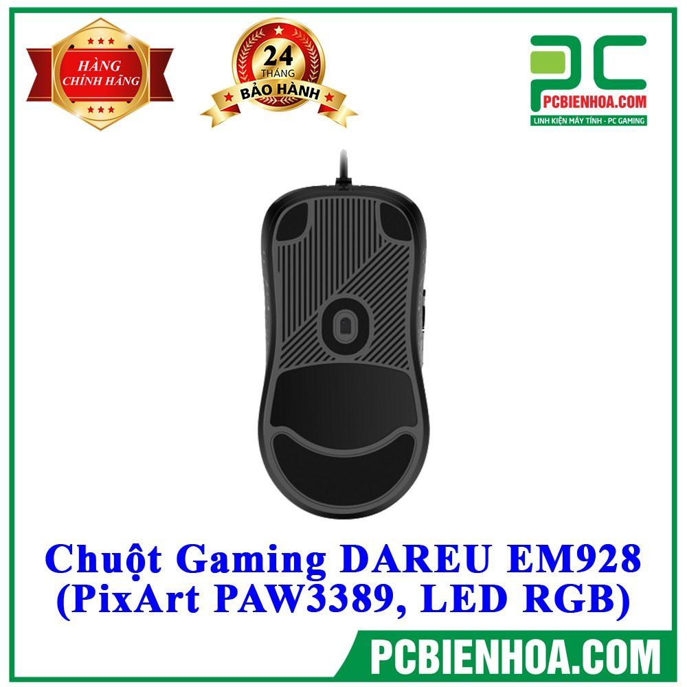 [Mã 267ELSALE hoàn 7% đơn 300K] CHUỘT GAMING DAREU EM928 (PIXART PAW3389LED RGB)