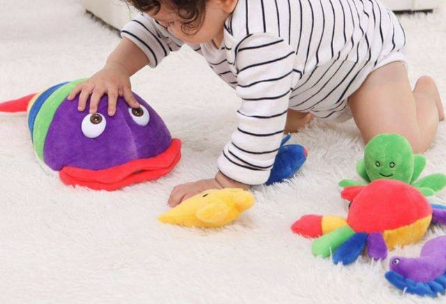 Set thú bông đồ chơi sơ sinh cho bé