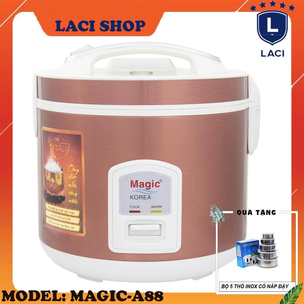 Nồi cơm điện lòng niêu Magic Korea A88 | Dung Tích 2L | Công Suất 650W | Tặng Bộ 5 Thố Inox