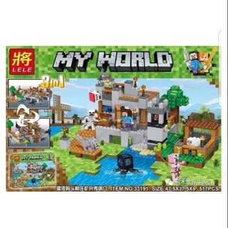 Giá Siêu Sốc – Xếp Hình Lego Minecraft My World 33191 (3in1): Mô Hình Bến Cảng
