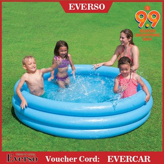 EVER 3 Ringed Inflatable Swimming Paddling Pool