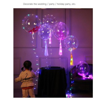 Transparent durable bobo ball decoration LED lamp ball helium balloon