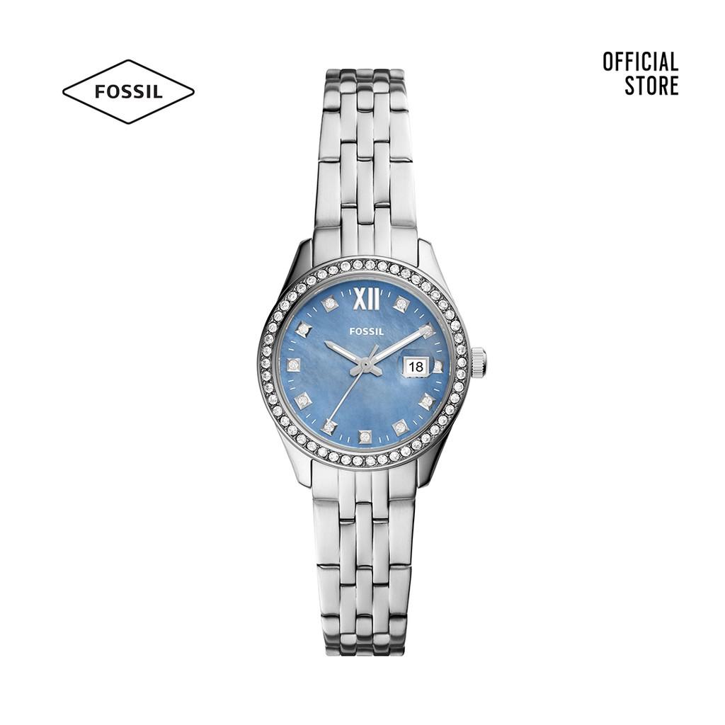 Đồng hồ nữ Fossil Scarlette dây thép không gỉ ES5074 - bạc