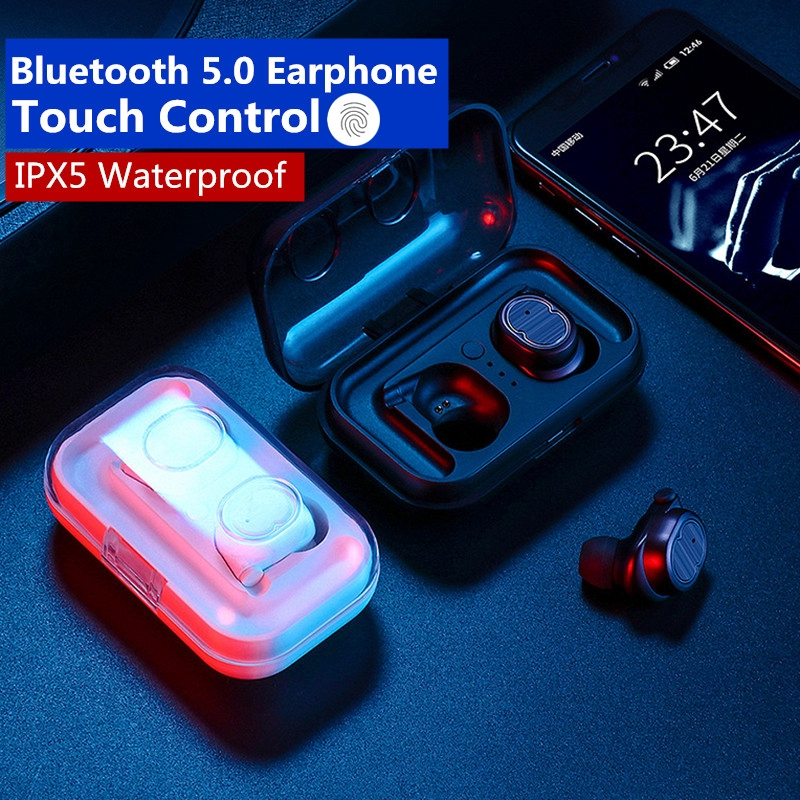 💐TWS Wireless Earphone Bluetooth 5.0 Touch Control In-Ear Stereo IPX5 Headphone