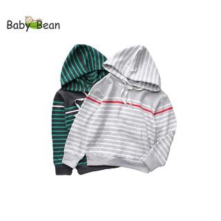 Áo Hoodie Nỉ Tay Dài Dây Rút Phối Túi Bo Lai bé trai BabyBean