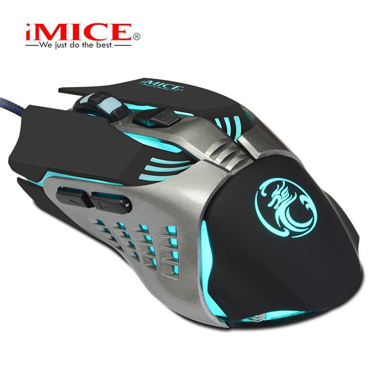 Mouse Gaming IMICE V5 Dây dù - Led 7 màu