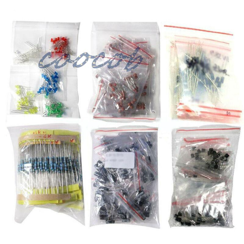Capacitor Resistance kit Lot 1390pcs Electronic Components LED Diode Transistor Supplies Replacement Industrial Giá chỉ 247.080₫