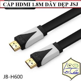 [Mã ELFLASH5 giảm 20K đơn 50K] Cáp HDMI dài 1.8M JSJ Dây dẹp Dây tròn siêu dẻo Hỗ trợ Full HD,3D, 4K,Ethernet