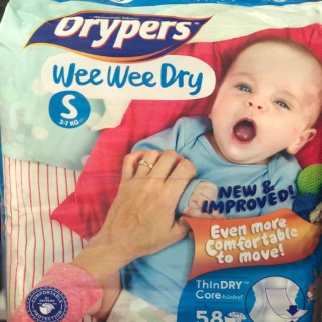 Tả Dán Drypers Wee Wee Dry - Size S.58 ( 3-7kg)