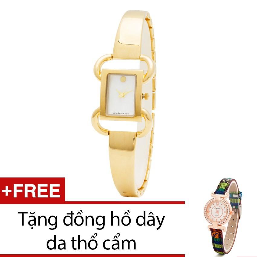 Đồng hồ nữ Babila mặt vuông dây kim loại tặng kèm 1 đồng hồ thổ cẩm - 2466832 , 101039172 , 322_101039172 , 999000 , Dong-ho-nu-Babila-mat-vuong-day-kim-loai-tang-kem-1-dong-ho-tho-cam-322_101039172 , shopee.vn , Đồng hồ nữ Babila mặt vuông dây kim loại tặng kèm 1 đồng hồ thổ cẩm