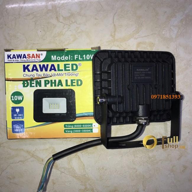 Đèn pha LED thân đúc mỏng 10W Kawaled Kawasan FL10W